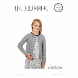Line Dried Mini-Me Cardigan by Sue Stratford - Digital Pattern