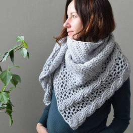Living Lagom Shawl Crocheted in Scheepjes Namaste by Lilla Bjrn