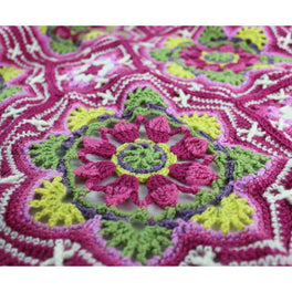 Persian Tiles Crochet Pattern and Stylecraft Life Dk - Limited Edition Pink Colour Pack