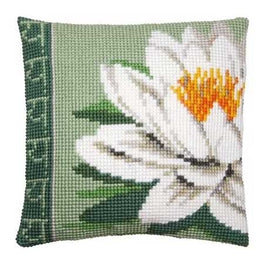 White Lotus Flower Cushion Front Kit