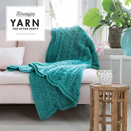 Yarn The After Party 24 Popcorn & Cables Blanket in Scheepjes Stone Washed XL