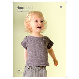 Short and Long Sleeve Jumper in Rico Baby Cotton Soft DK - Digital Version