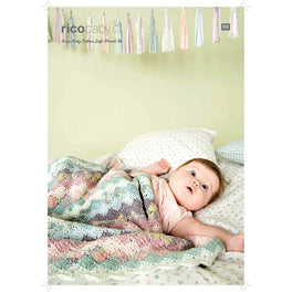 Crochet Blanket in Rico Baby Cotton Soft DK - Digital Version