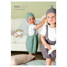 Shorts with Braces, Hat and Booties in Rico Baby Cotton Soft DK - Digital Version