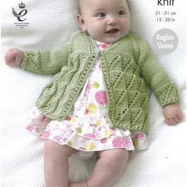 Matinee Coat, Angel Top and Cardigan in King Cole Cottonsoft DK