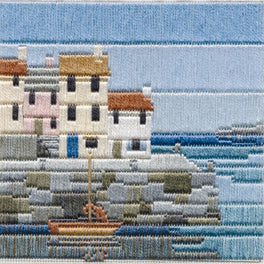 Fishermen's Cottages Silken Longstitch Kit