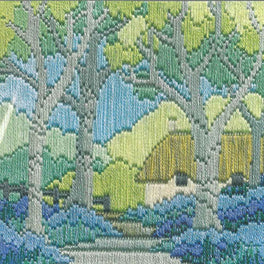 Bluebell Cottage Silken Longstitch Kit