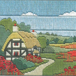Poppy Cottage Silken Longstitch Kit
