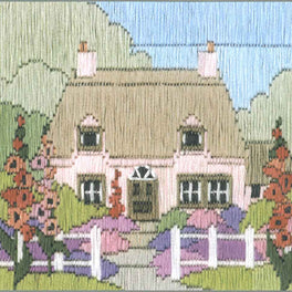 Hollyhock Cottage Silken Longstitch Kit