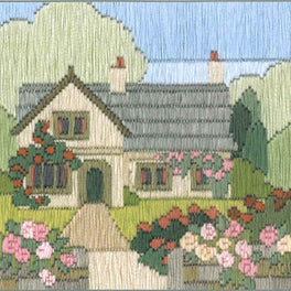 Rambling Rose Cottage Silken Longstitch Kit