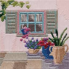 Courtyard Window Silken Longstitch Kit
