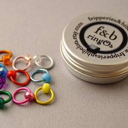Fripperies and Bibelots - ringOs - original stitch markers