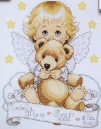 Angel with Bear Sampler