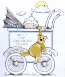 Boy Baby Buggy Sampler