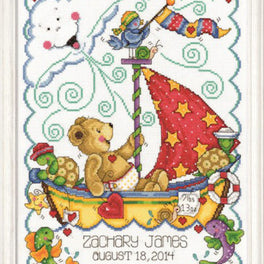 Sail Away Baby Sampler