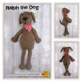 Ralph the Dog in Sirdar Harrap Tweed DK by Sue Jobson