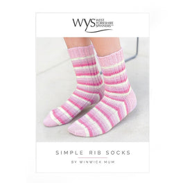 Simple Rib Socks in West Yorkshire Spinners Signature 4ply by Winwick Mum