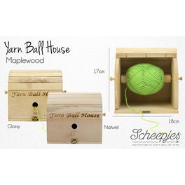 Scheepjes Yarn Ball House - Natural Maplewood