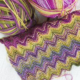 ZickZack Scarf Alternative Colourway - Colour Pack in Stylecraft Head Over Heels All Stars and WYS Signature 4ply