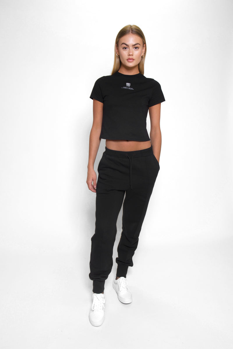Black Classic Fitted Tee
