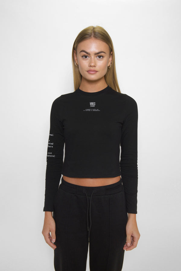 Black 'Definition' Long Sleeve Tee