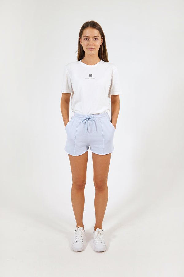 Pastel Blue Raw-Hem Lounge Shorts