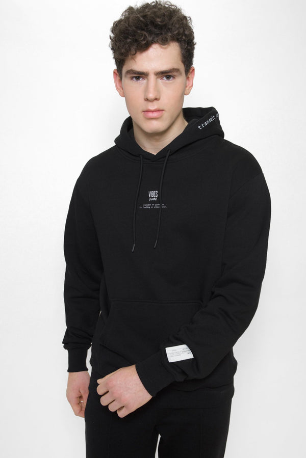 Black 'Definition' Classic Hoodie