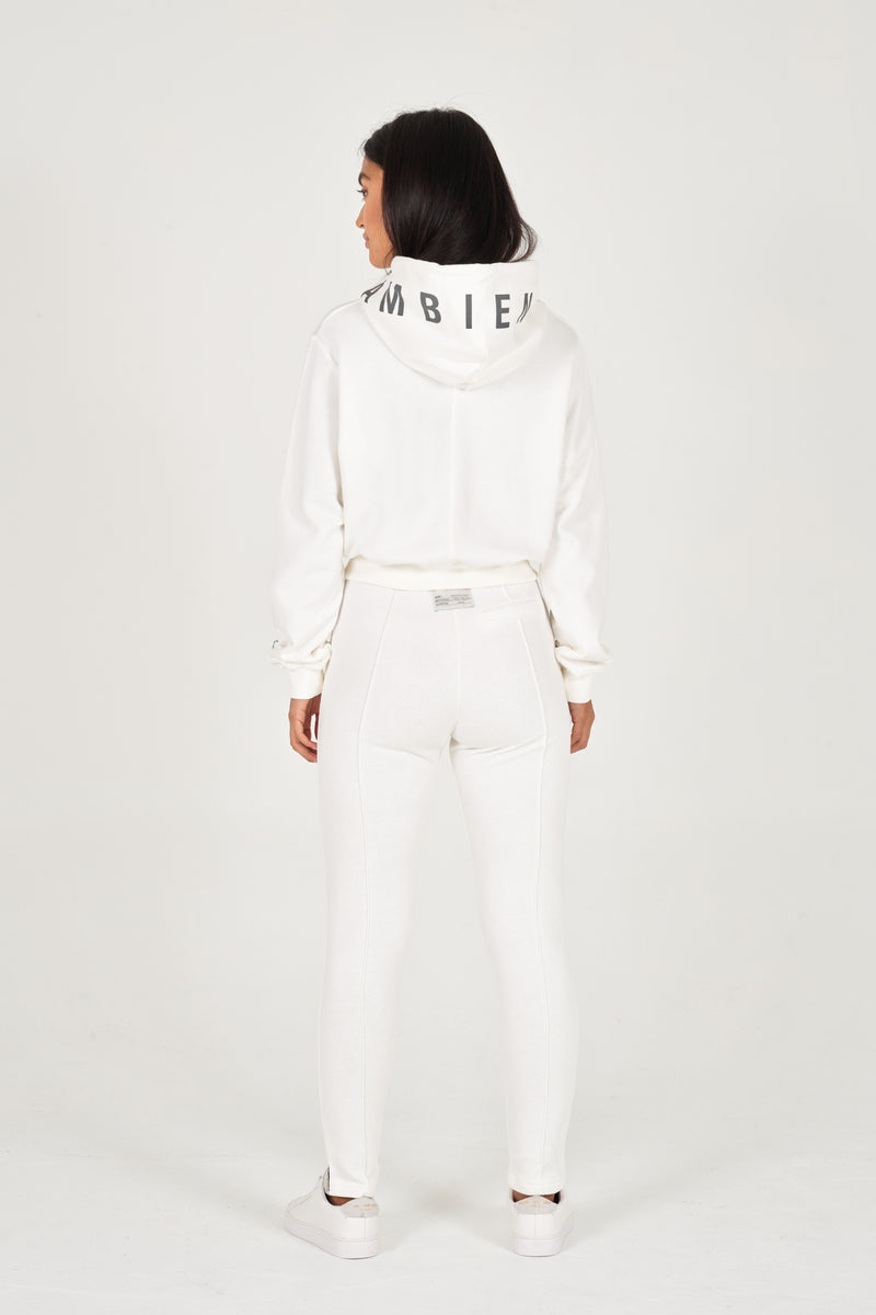 Off-White Organic Cropped Hoodie