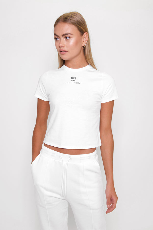 White Classic Fitted Tee