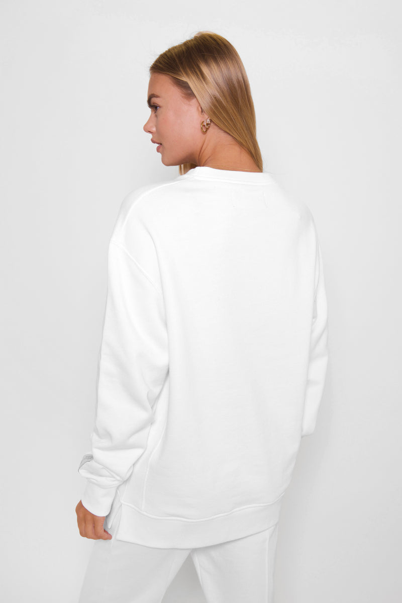 White 'Definition' Classic Sweatshirt