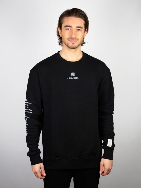 Black 'Definition' Classic Sweatshirt