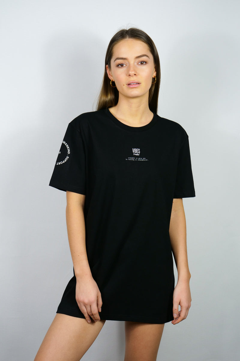 SUPPORT HUMANKIND BLACK CLASSIC TEE