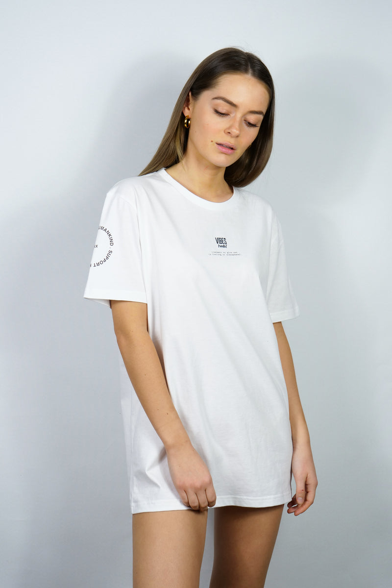 SUPPORT HUMANKIND WHITE CLASSIC TEE