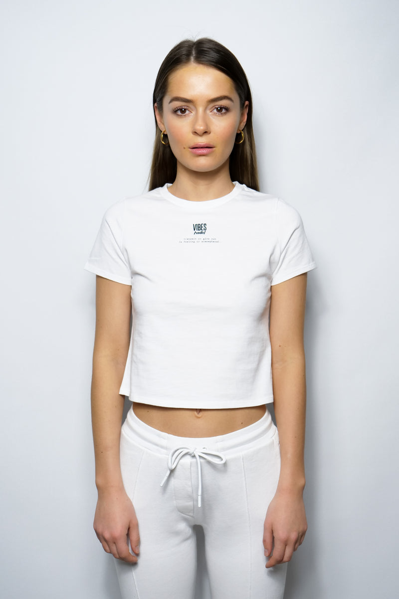 SUPPORT HUMANKIND WHITE FITTED TEE