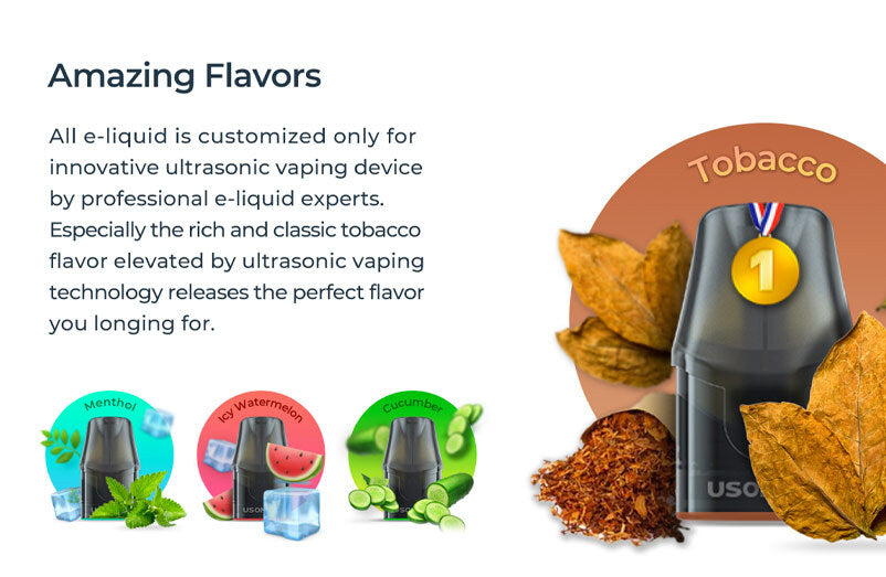 Usonicig Chic Pod Vape Kit | Replacement Pods | Featured Flavours