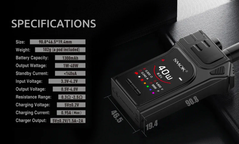 Smok Mag 40W System Vape Kit - Product Features and Specifications