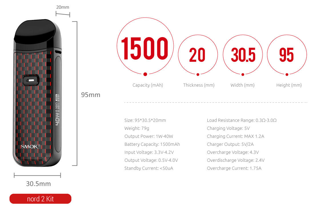 Smok Nord 2 - Specifications