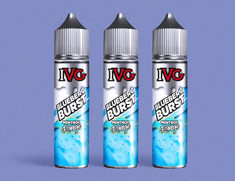 IVG Menthol Blueberg Burst 50ml Short Fill E-Liquid