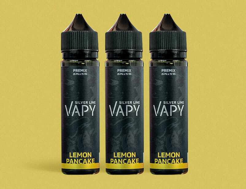 Vapy Silver Line Lemon Pancake 50ml Short Fill E-Liquid