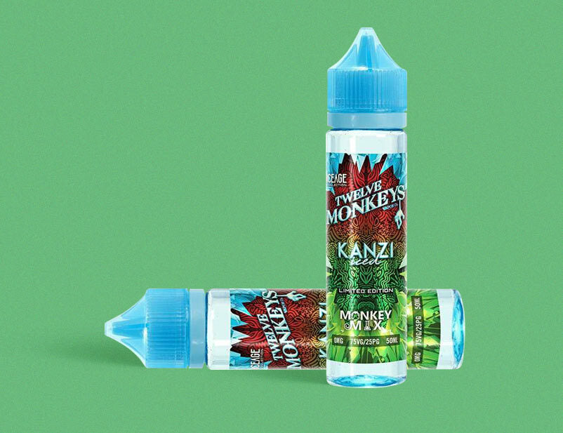 Twelve Monkeys - Ice Age Series - Kanzi Iced 50ml Short Fill E-Liquid
