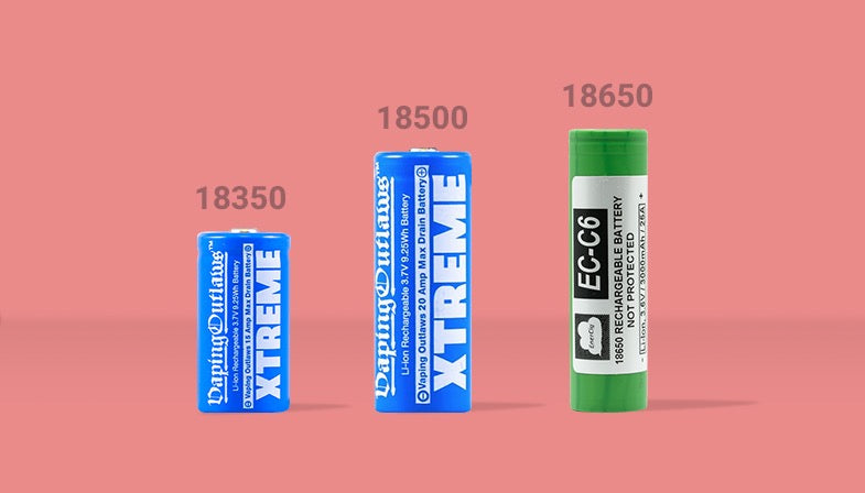 Battery type 18350