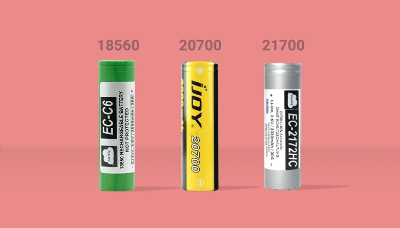 Battery type 18650 and 21700
