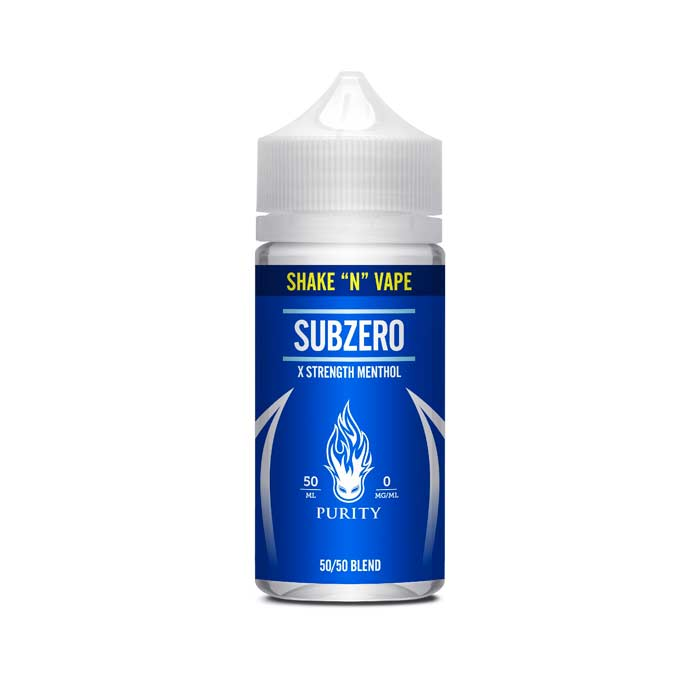 Purity - Shake and Vape SubZero 50ml Short Fill E-Liquid