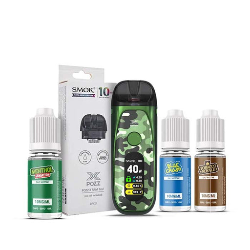 Smok Pozz X - Green Camo Pod Kit Bundle