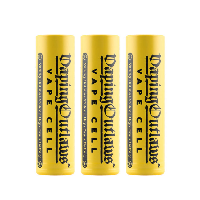 Vaping Outlaws Vape Cell 18650 25A 2500mAh Battery Bundle (3 Pack)