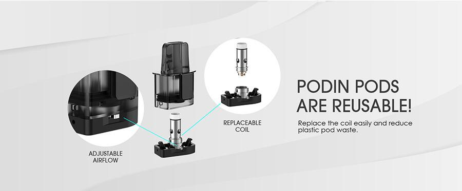 Replacement Innokin Podin Pods and Coils
