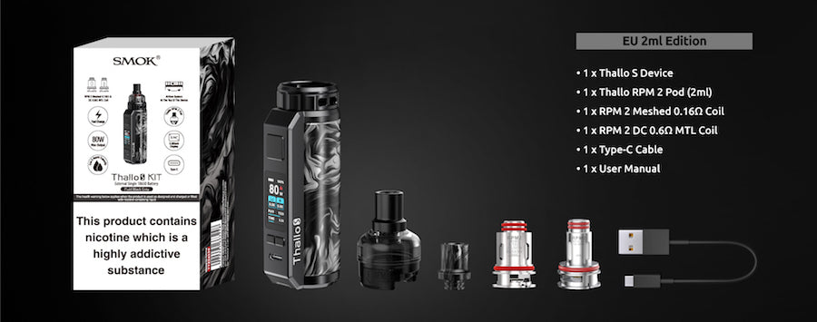 SMOK Thallo S Pod Mod Kit | Packaging and Contents