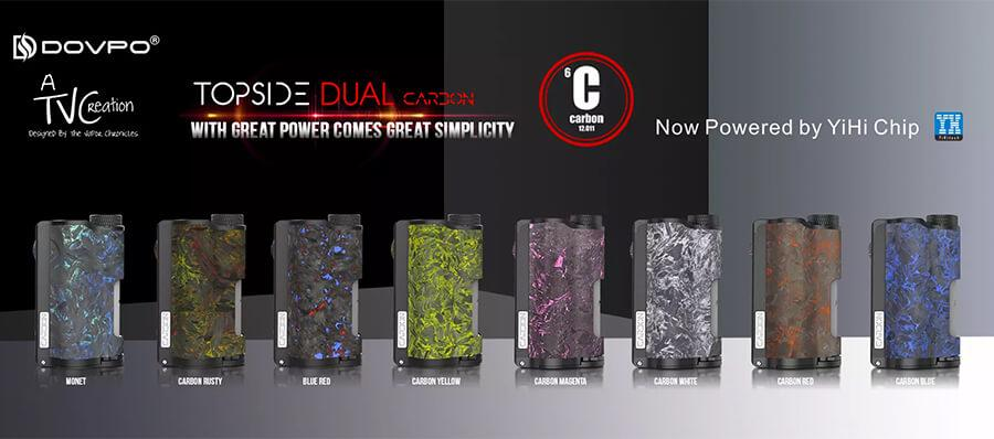 Dovpo - Topside Dual Carbon - Dual 18650 Regulated Box Mod