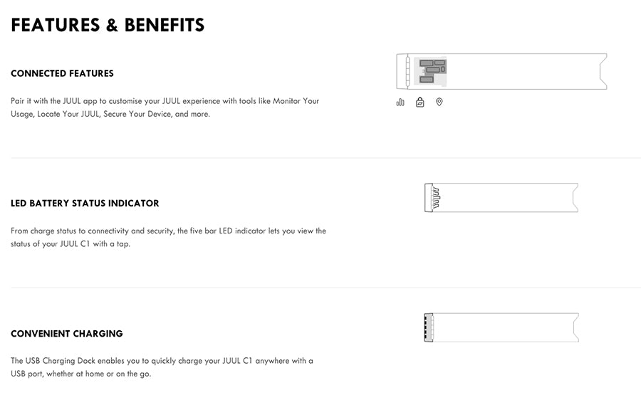 JUUL C1 Features and Benefits