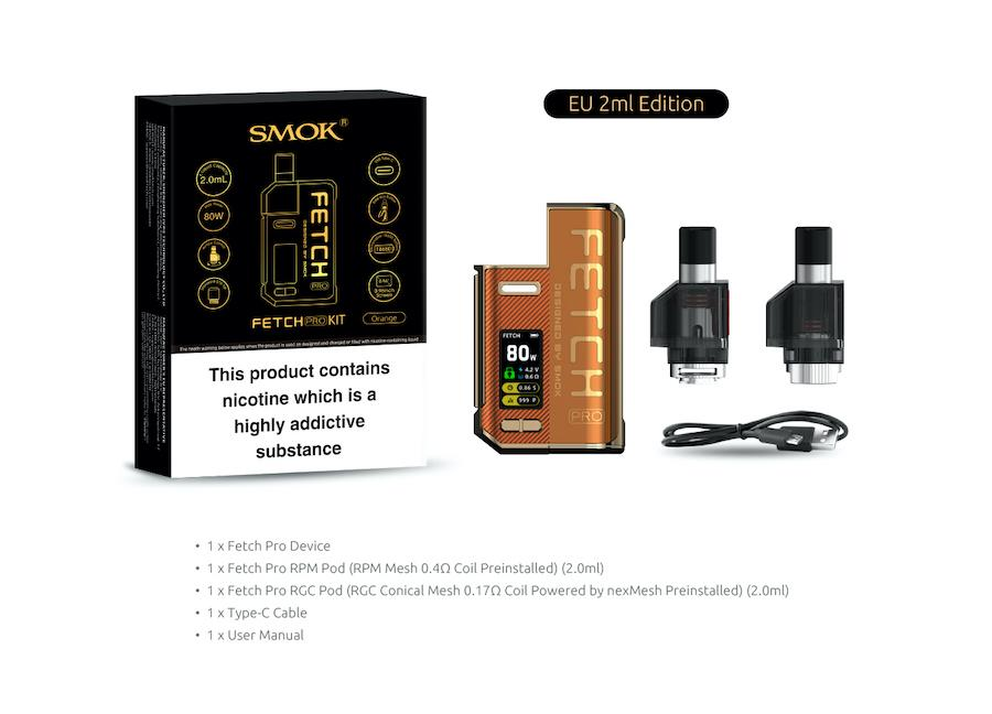 Smok Fetch Pro Pod Kit   Packaging and Contents